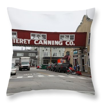 Calm Morning At Monterey Cannery Row California 5d24781 Throw Pillow