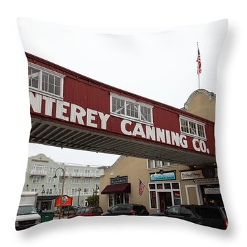 Calm Morning At Monterey Cannery Row California 5d24782 Throw Pillow