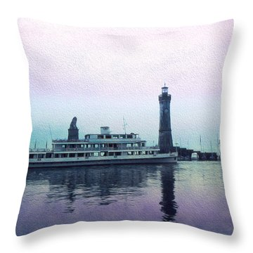 Throw Pillow featuring the digital art Calm On The Water by Cathy Anderson