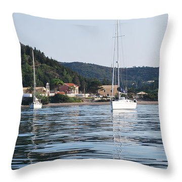 Calm Sea 2 Throw Pillow by George Katechis