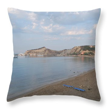 Throw Pillow featuring the photograph Calm Sea by George Katechis