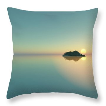 Calm Seas Sunset... Throw Pillow