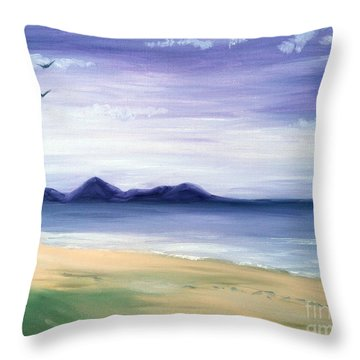 Calm Seashore Throw Pillow