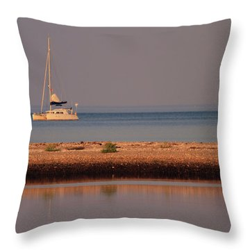 Calm Waters Throw Pillow by Karol Livote