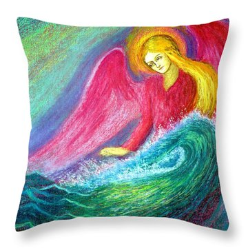 Calming Angel Throw Pillow