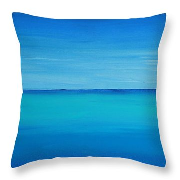 Calming Turquise Sea Part 1 Of 2 Throw Pillow