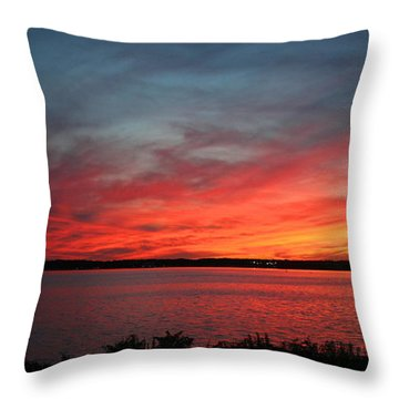Calming Escape Throw Pillow by Stephen Melcher
