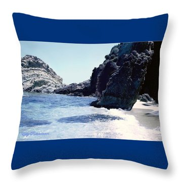 Calming Waves Throw Pillow