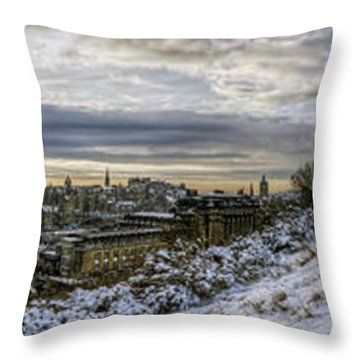 Throw Pillow featuring the photograph Calton Hill Panorama by Ross G Strachan
