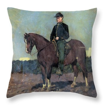Calvary Soldier Throw Pillow