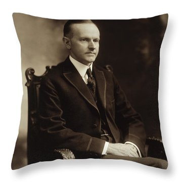 Calvin Coolidge 1918 Throw Pillow