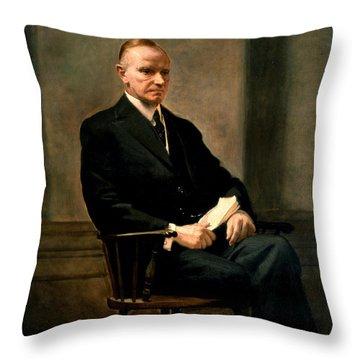 Calvin Coolidge Throw Pillows