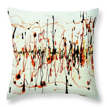 Throw Pillow featuring the painting Calypso Ritmo by Roberto Prusso