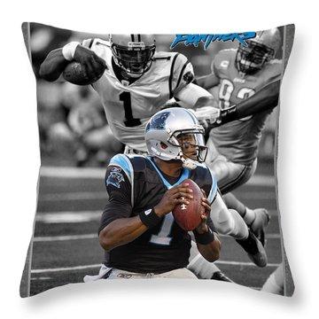 Cam Newton Panthers Throw Pillow by Joe Hamilton