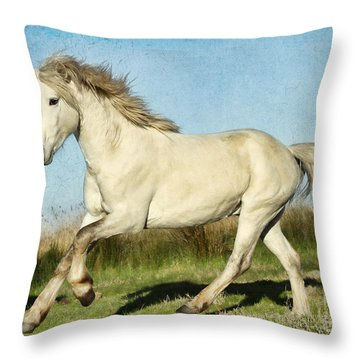 Camargue Stallion Throw Pillow