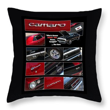 Camaro-drive - Poster Throw Pillow by Gary Gingrich Galleries
