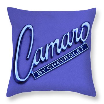 Camaro Throw Pillow by Frozen in Time Fine Art Photography