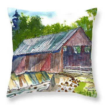 Cambell's Covered Bridge Throw Pillow