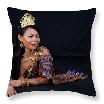 Cambodian Bride Throw Pillow