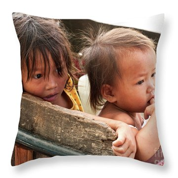 Cambodian Children 03 Throw Pillow