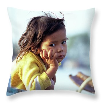 Cambodian Girl 01 Throw Pillow