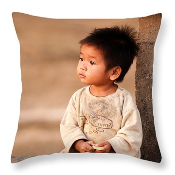 Cambodian Girl 02 Throw Pillow