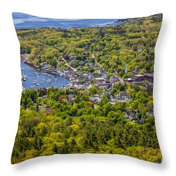 Camden Harbor View Throw Pillow by Susan Cole Kelly