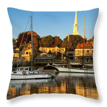 Throw Pillow featuring the photograph Camden Maine by Brian Jannsen