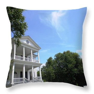 Angel Over Camden House Throw Pillow