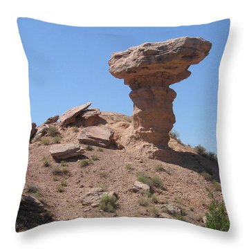 Throw Pillow featuring the photograph Camel Rock - Natural Rock Formation by Dora Sofia Caputo Photographic Art and Design