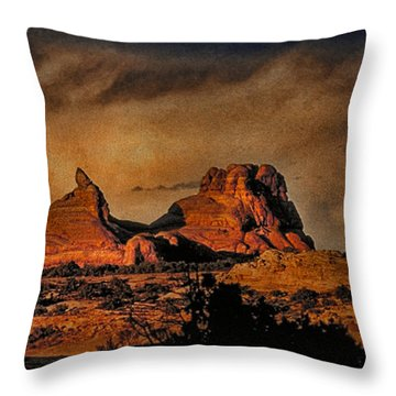 Camelback Canyon Lands Throw Pillow by Robert Albrecht