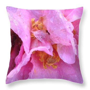 Camellia Parts Throw Pillow