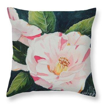 Camellia ...sold  Throw Pillow