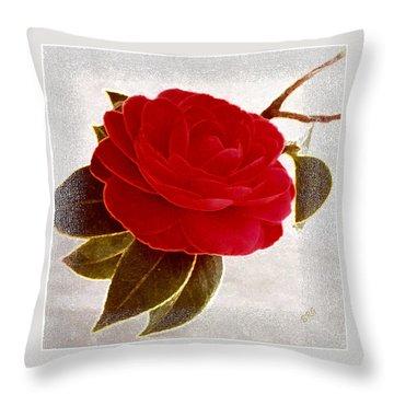 Camellia Spectacular Throw Pillow by Ben and Raisa Gertsberg
