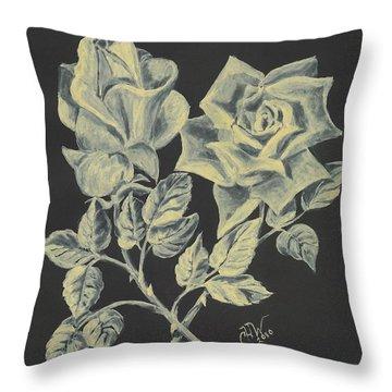 Cameo Rose Throw Pillow by Carol Wisniewski