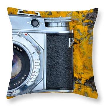 Camera Still Life Throw Pillow