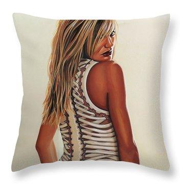 Cameron Diaz Painting Throw Pillow