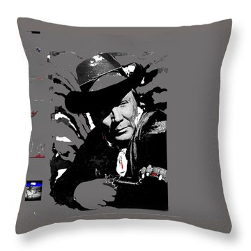 Cameron Mitchell Publicity Photo The High Chaparral Throw Pillow by David Lee Guss
