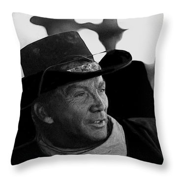 Cameron Mitchell The High Chaparral Set Old Tucson Arizona 1967-2008 Throw Pillow by David Lee Guss