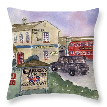 Cameron's Pub And Restaurant Throw Pillow