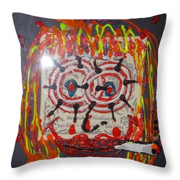 Throw Pillow featuring the painting Camille by Lisa Piper