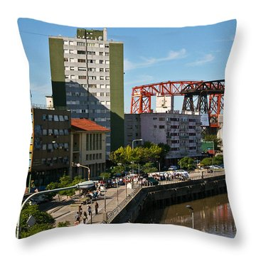 Caminito Throw Pillow by Silvia Bruno