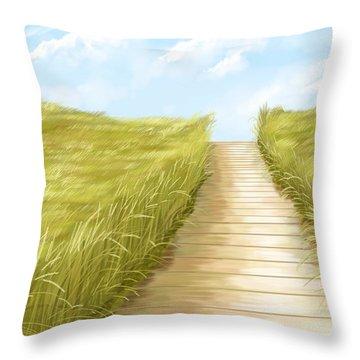 Cammino Throw Pillow by Veronica Minozzi