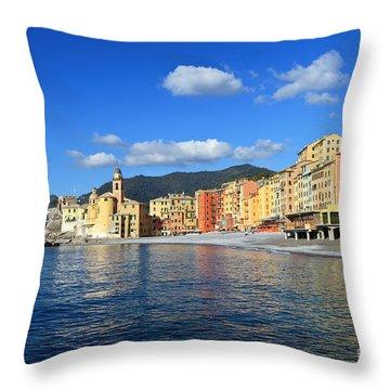 Throw Pillow featuring the photograph Camogli - Italy by Antonio Scarpi