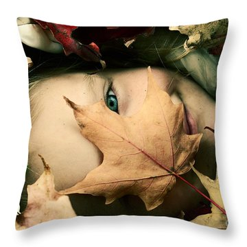 Camouflage Throw Pillow by Aimelle
