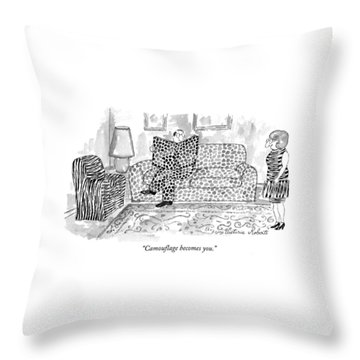 Camouflage Becomes You Throw Pillow