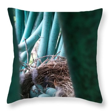 Camouflage Intent Throw Pillow by Renate Nadi Wesley