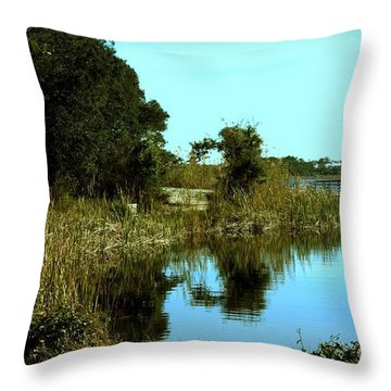 Camp Helen Throw Pillow