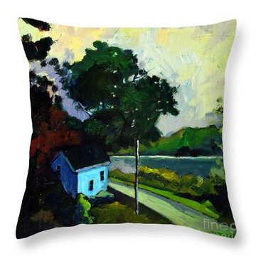 Camp Wayne Caretakers House Throw Pillow by Charlie Spear