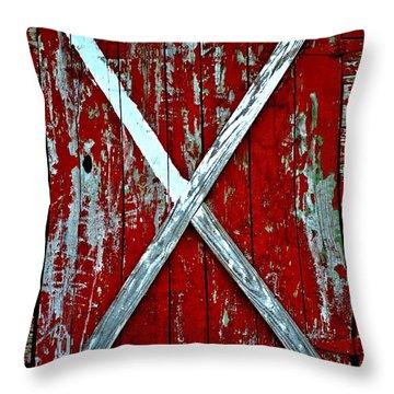 Camp Westminster Barn Throw Pillow